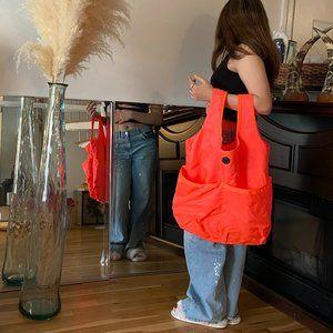 Lululemon Large Packable Yoga Gym Bag Neon Orange